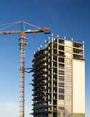 Construction new high-rise building — Stock Photo