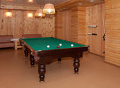 Billiard table in a room — Stock Photo