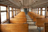 The electric train car inside — Foto Stock