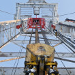Looking up inside the derrick — Stock Photo #6617488