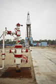 Multiple well platform for extraction of hydrocarbons — Stock Photo