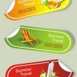 Summer stickers set - Stok Vektr