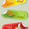 Summer stickers set - Stock Vector