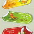 Summer stickers set — Stock Vector