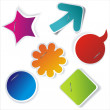 Royalty-Free Stock Imagem Vetorial: Paper stickers with pins