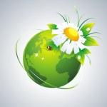 Green globe. — Stock Vector