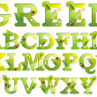 Green alphabet - Stock Vector