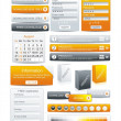 Vector de stock : Web Design Element Frame Template
