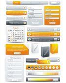 网页设计元素框架模板 — 图库矢量图片