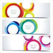 Abstract colorful banners - Stock Vector