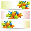 Stock vektor: Abstract colorful banners