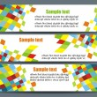 Vector de stock : Abstract colorful banners