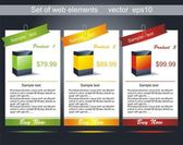 Web banner — Vector de stock