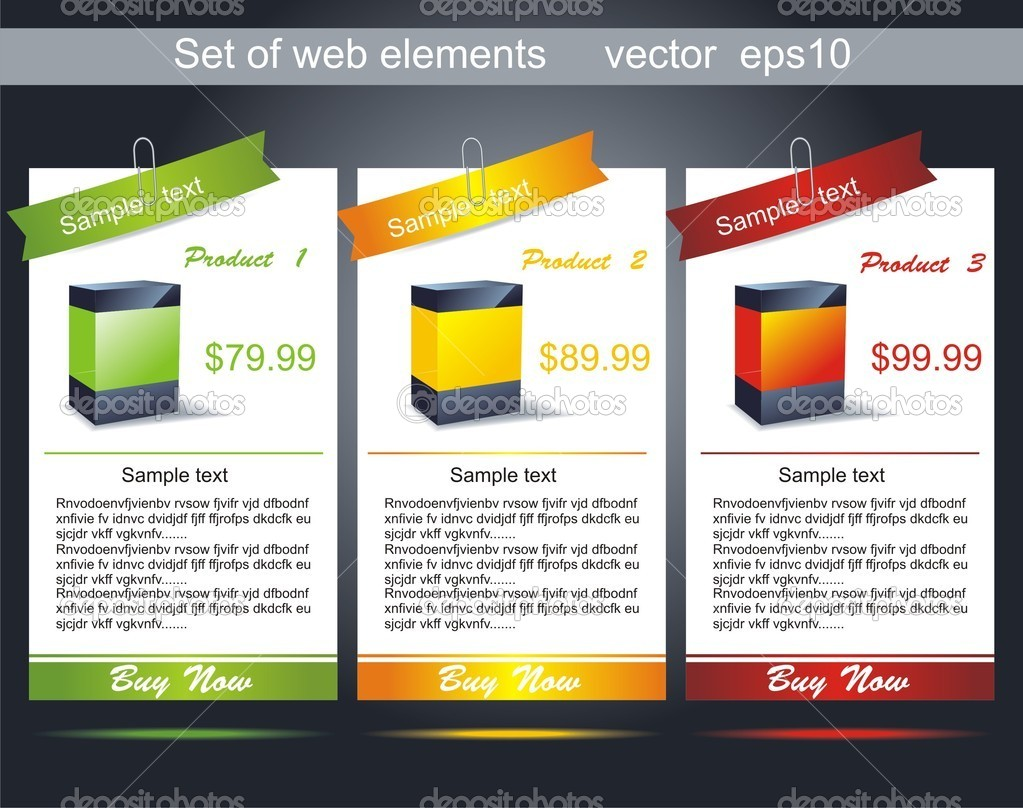 Vertical web banner. Easy to change size.  — Vettoriali Stock  #6156125