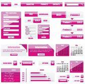 Grey Modern Website Design Elements — Stock Vector