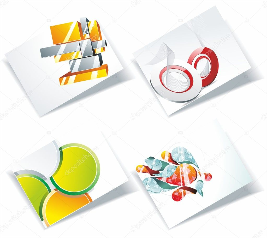 Vector business card set, for more business card of this type please visit my gallery  — Stock Vector #6195111