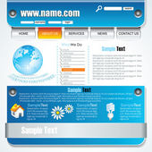 Grey Modern Website Design — Stock Vector