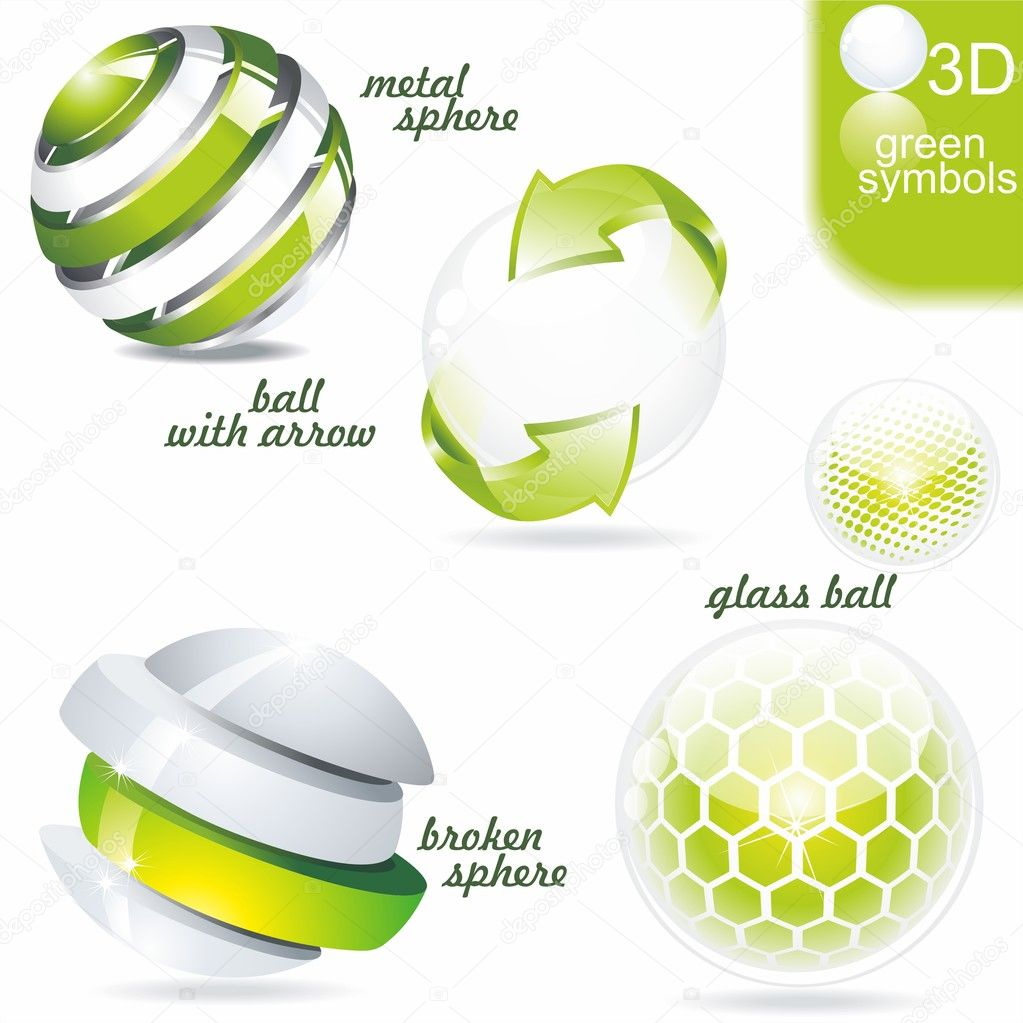 Eco related symbols and icons  Stock vektor #6208119