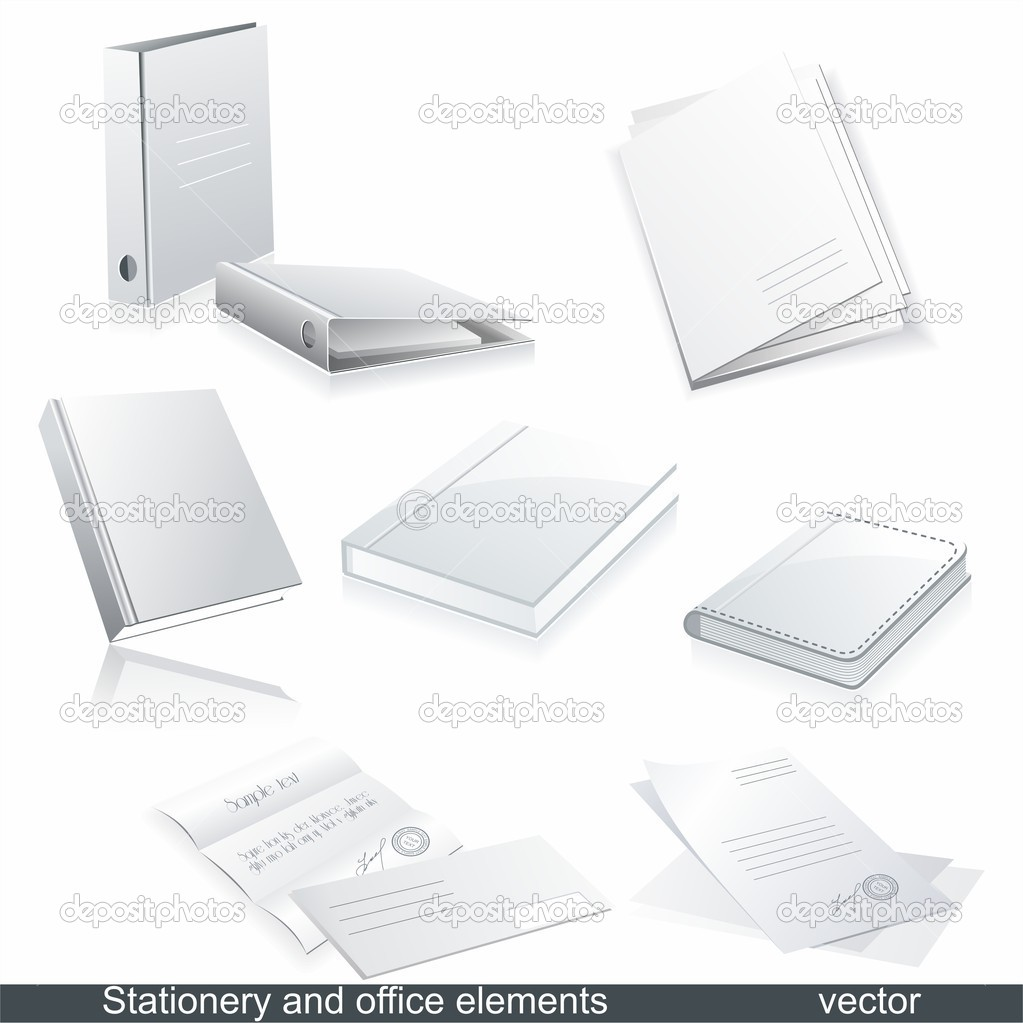 Set of vector white paper - packaging and stationery elements.   Stock Vector #6208160