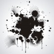 Vector de stock : Black blot