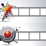 Stars and cinema tape — Stock Vector