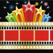 Stars and cinema tape - Stock Vector