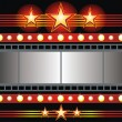 Stock Vector: Stars and cinema tape