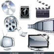 Cinema symbols - Stock Vector