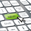 New button on keyboard - Imagen vectorial