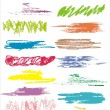 Royalty-Free Stock Imagen vectorial: Color scribbles