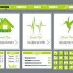 groene website — Stockvector