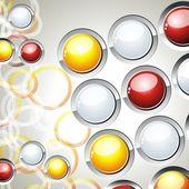 Abstract Glowing Circles — Stock Vector