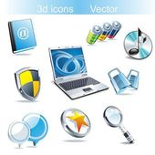 Vector icon set: web — Stock Vector
