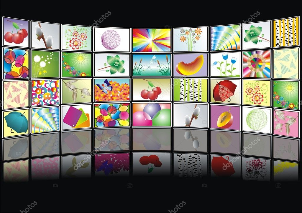 Vector  screens with images — Stock Vector #6220206
