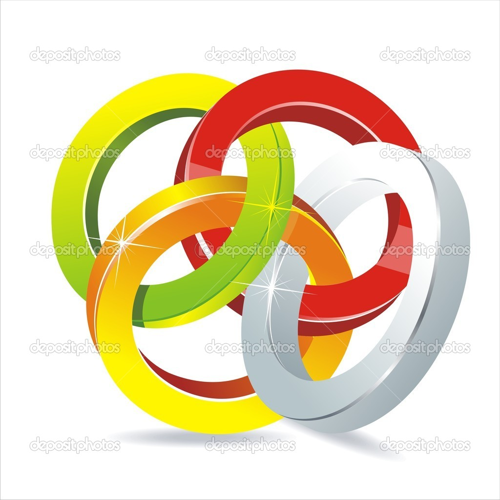 Abstract 3d circle bend lines vector backgound — Stock Vector #6220233