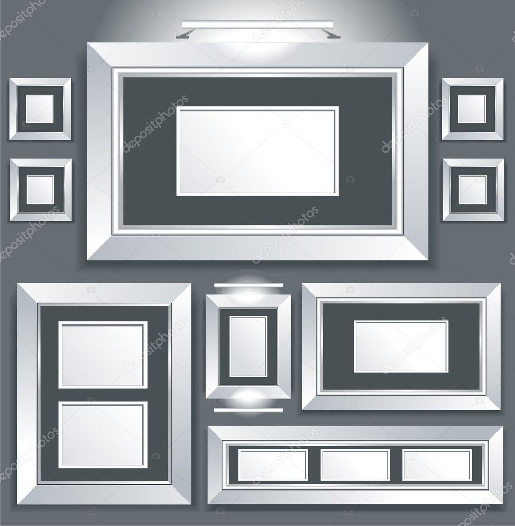 Vector collection of isolated instant photo frames — Stock Vector #6220255