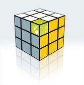 Vector 3d cube — Stock Vector