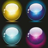 3d glass balls — Stockvektor