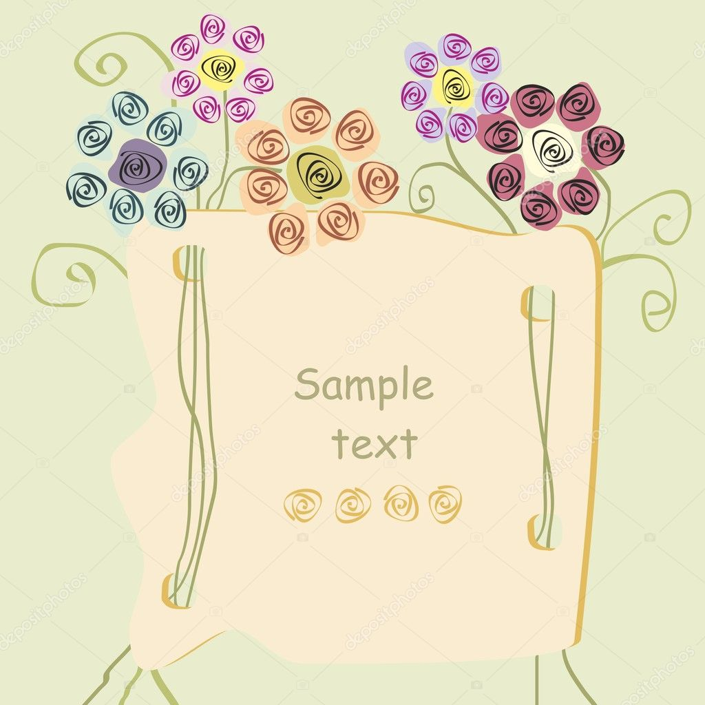 Cute floral background   Stock vektor #6295859