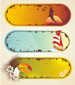 Summer stickers. — Stock Vector