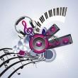 Music banner - Stock Vector