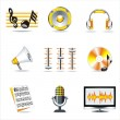 Stock Vector: Music symbols.