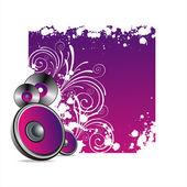 Muziek banner — Stockvector