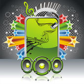 Music banner — Stock Vector