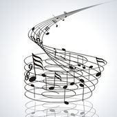 Music notes on staves — Stockvector