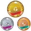 Medals, award. — Stock Vector