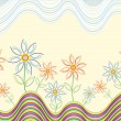 Stylish floral background - Imagen vectorial