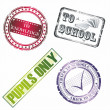 Back to school stamp - Stockvectorbeeld