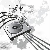 Retro music concept — Stock Vector