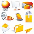 Royalty-Free Stock Vector Image: Web business & office icons
